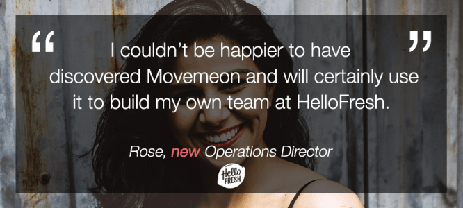 Rose celebrates her new job at HelloFresh, London