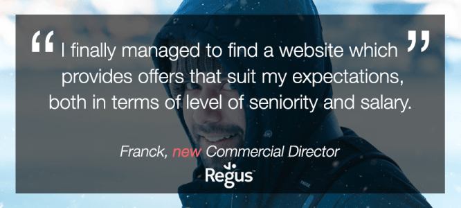 Franck celebrates his new Commercial Director job at Regus