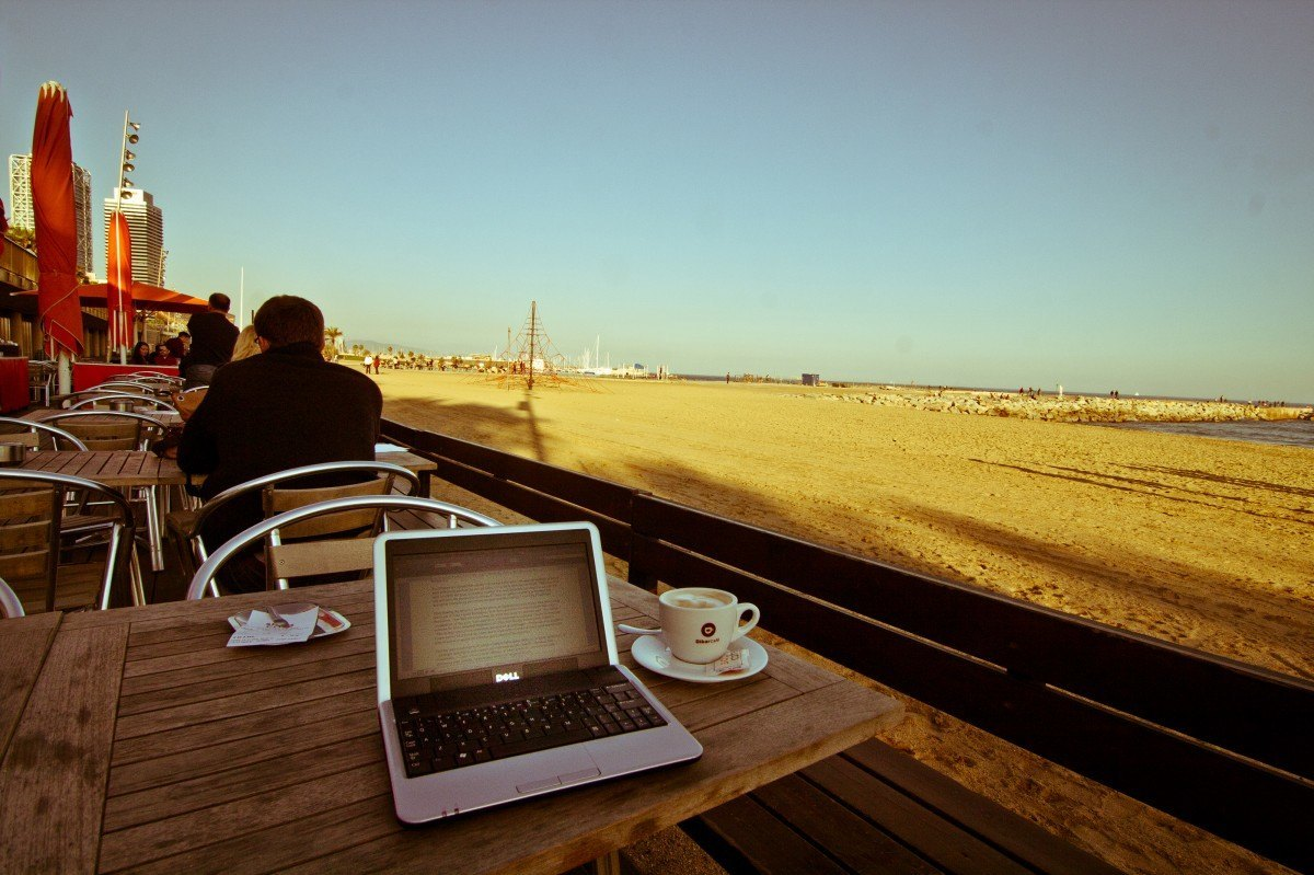 Flexible working on the Beach  employer hours consulting movemeon