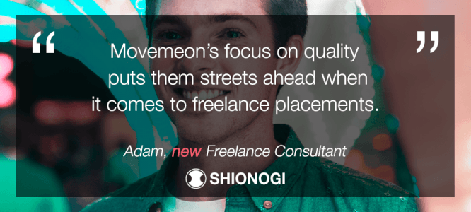 Adam celebrates his freelance consulting job at Shionogi