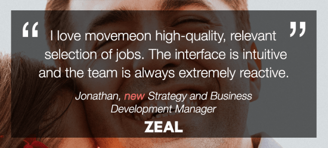 Jonathan celebrates his new role at Zeal!