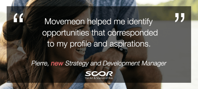 Pierre celebrates his new role at Scor!