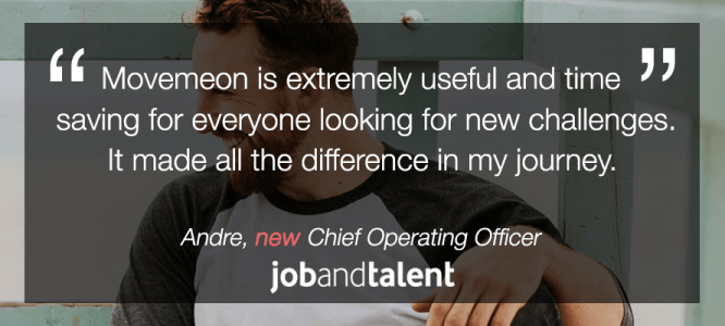 Andre celebrates his new role at Jobandtalent!