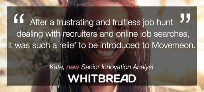 Kate celebrates her new role at Whitbread!