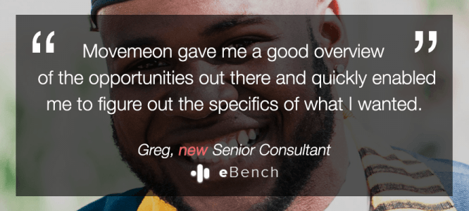 Greg celebrates his new role at eBench!