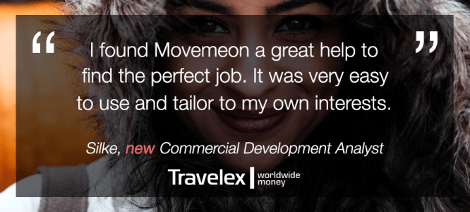 Silke celebrates her new role at Travelex!