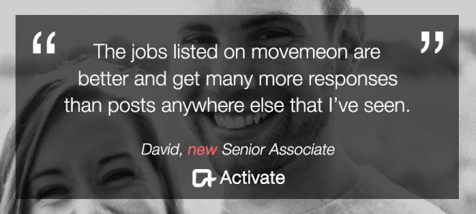 David celebrates his new role at Activate, New York