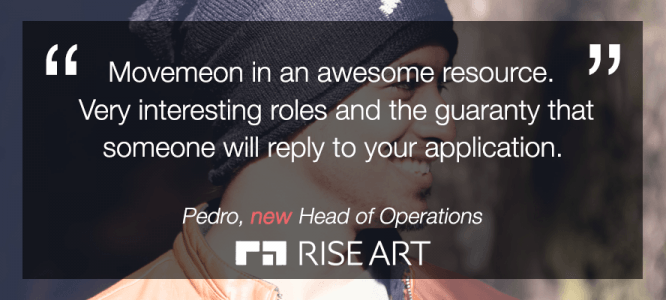 Pedro Celebrates his new roles at Rise Art