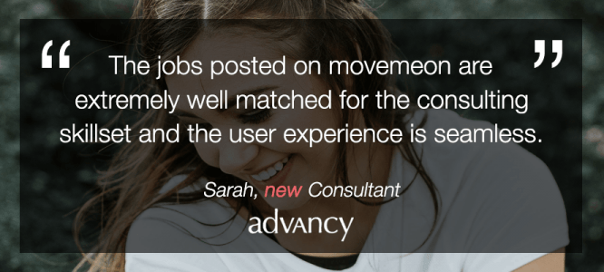 Sarah celebrates her new role at Advancy