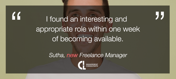 Sutha celebrates his new freelance project at CIL Management Consultants