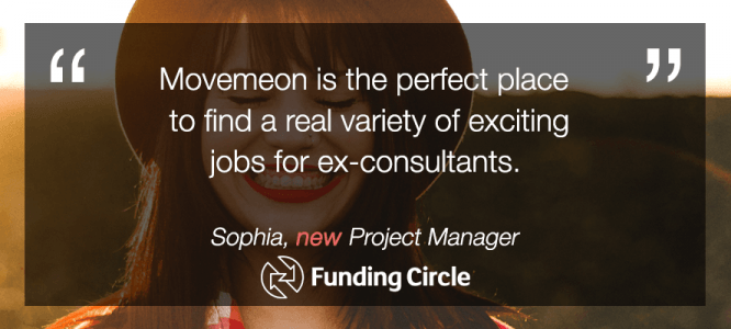 Sophia celebrates her new role at Funding Circle
