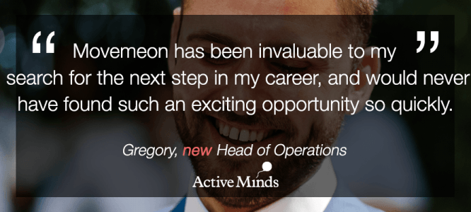 Gregory celebrates his new role at Active Minds