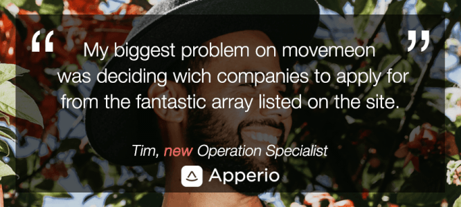 Tim celebrates his new role at Apperio
