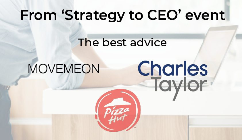 From strategy to CEO event: The best advice