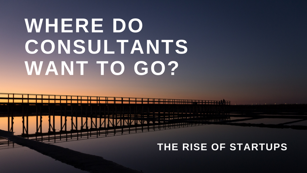 Where do consultants want to go? – Strategy Vs Startup