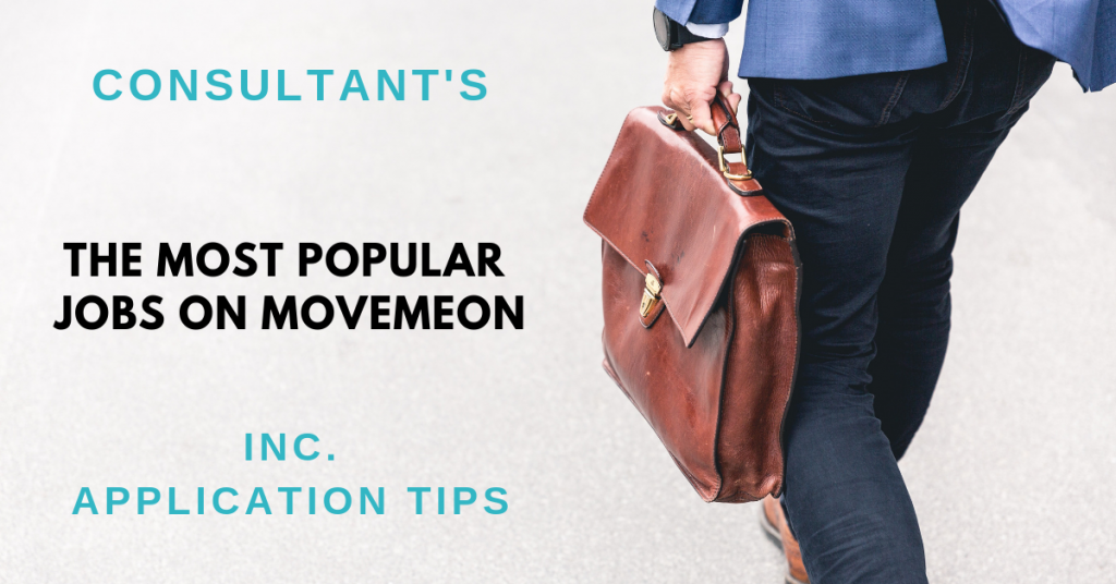 The most popular jobs on movemeon