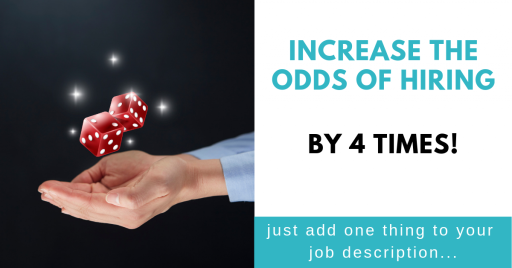 Want to increase the odds of hiring by 4 times?
