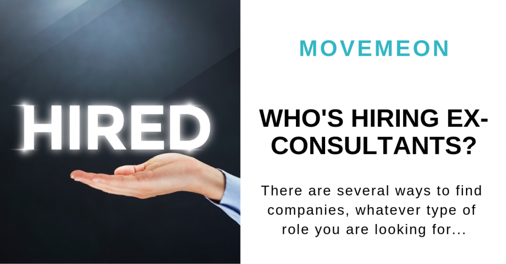 Who's hiring ex-consultants?