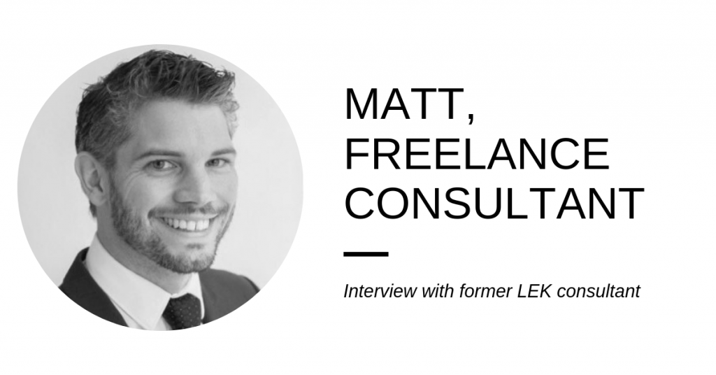 From LEK to the healthcare industry – freelancer interview