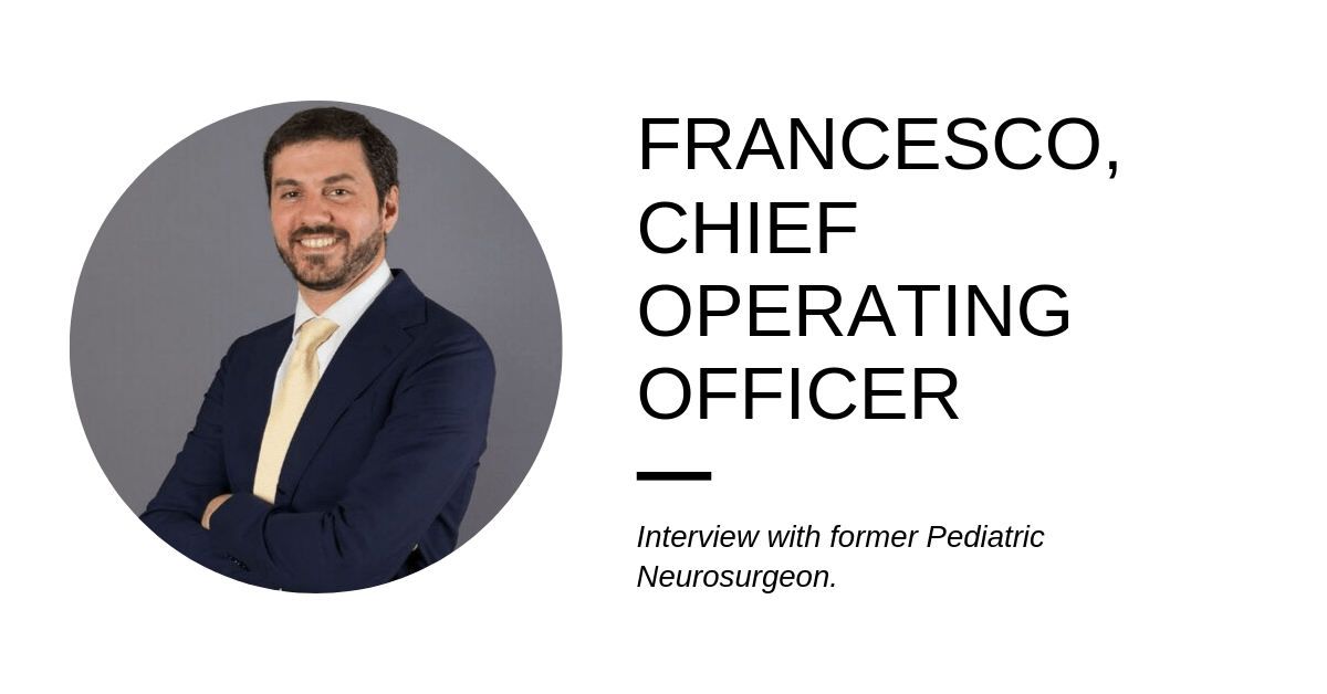 From Medicine to McKinsey – Francesco's journey