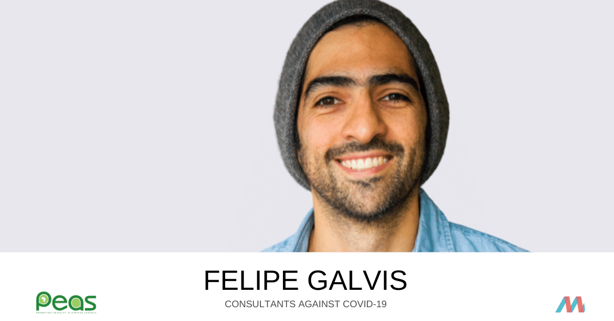Consultants Against COVID-19: Felipe Galvis supports PEAS
