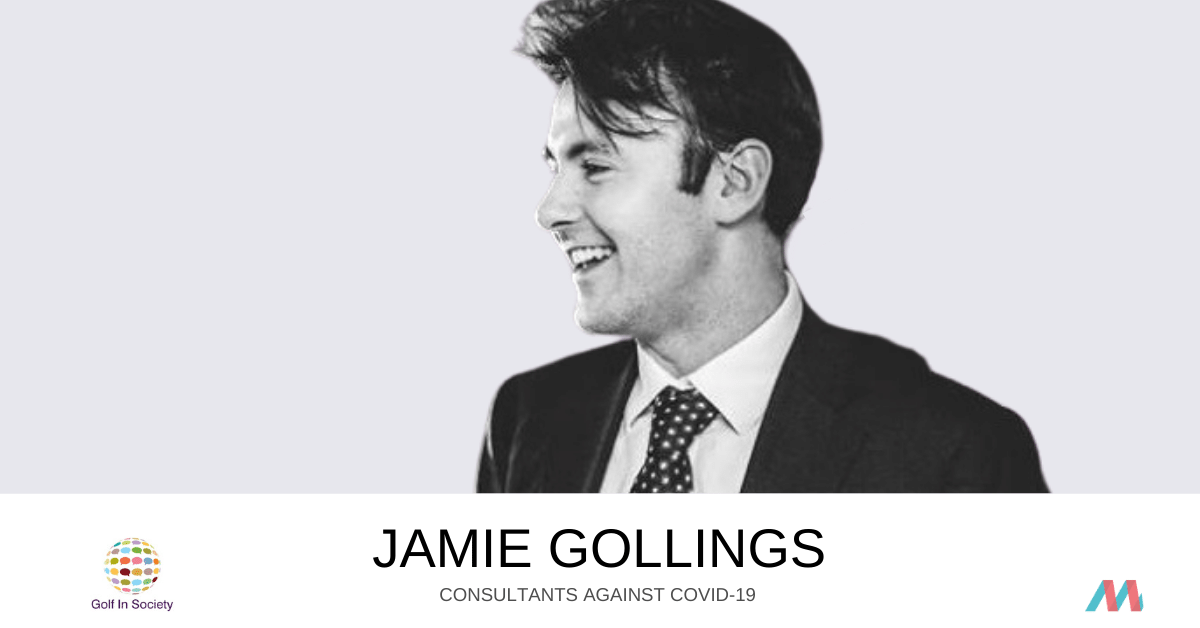 Consultants Against COVID-19:  Jamie Gollings supports Golf In Society