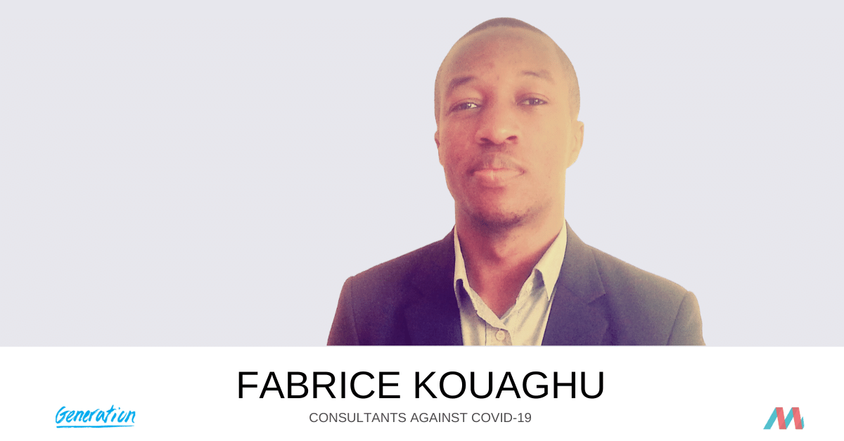 Consultants Against COVID-19: Fabrice Kouaghu supports Generation
