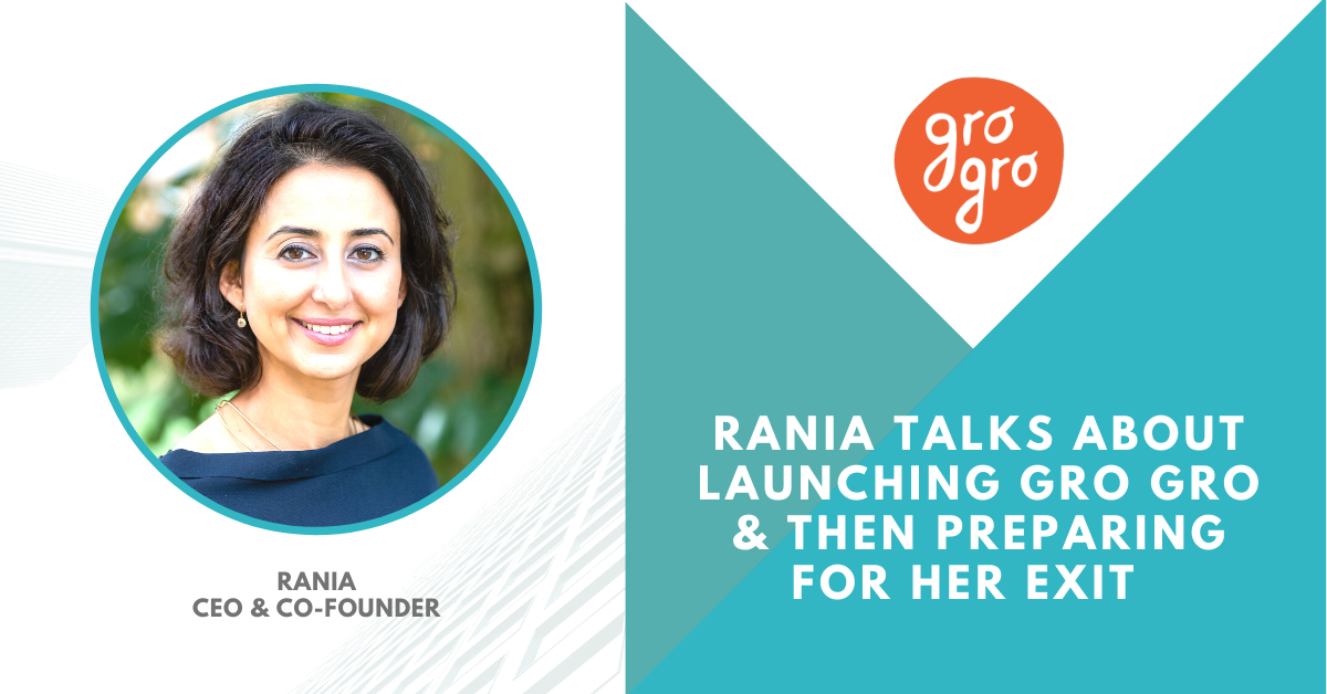 We talk to Rania about launching and exiting a startup