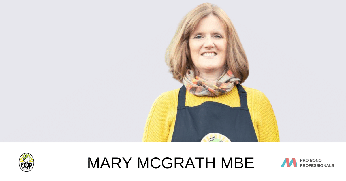 Movemeon's Pro Bono Professionals supports Mary MBE, CEO of FoodCycle