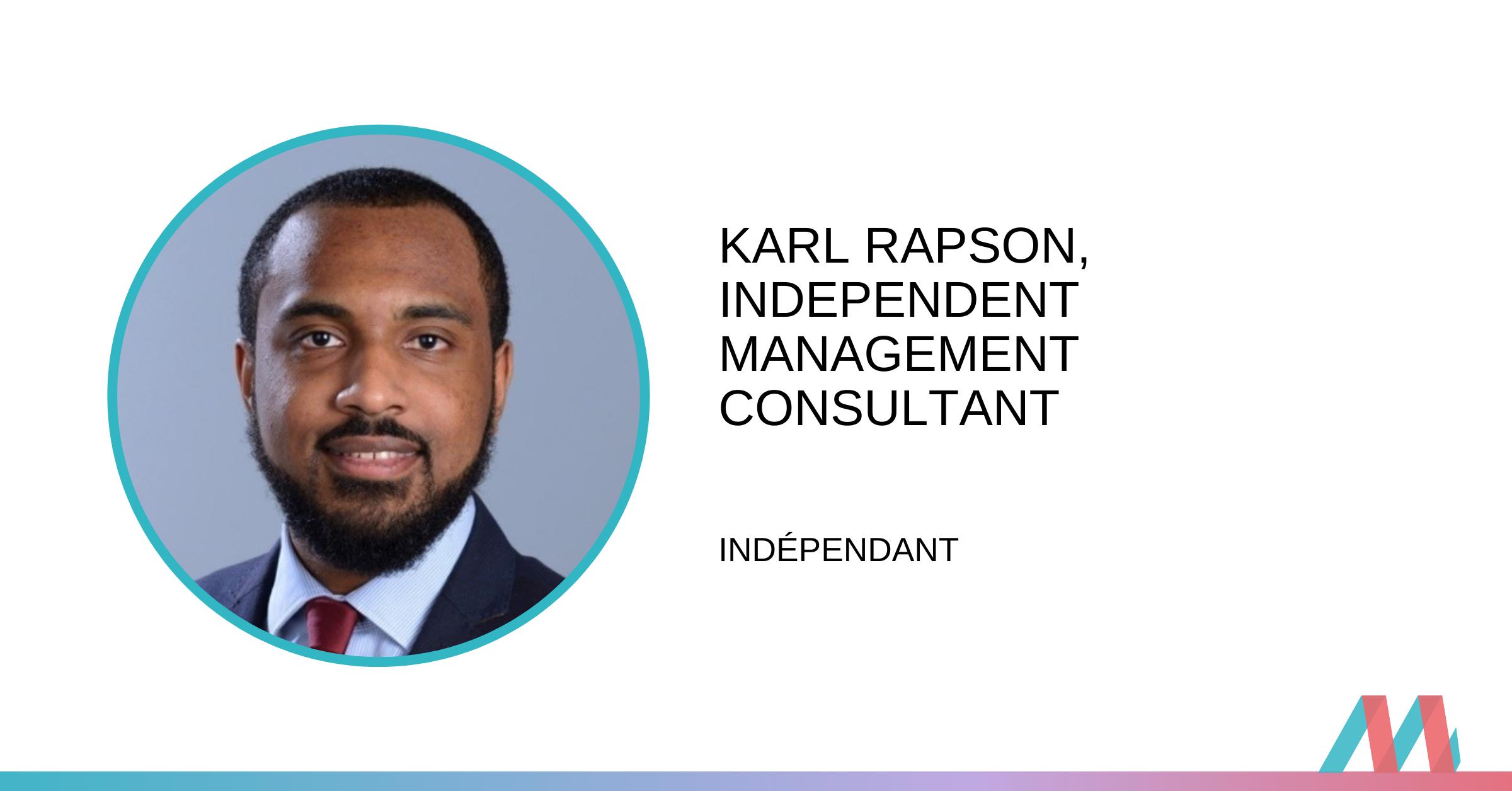 Conversation avec un consultant Pro Bono :  Karl Rapson
